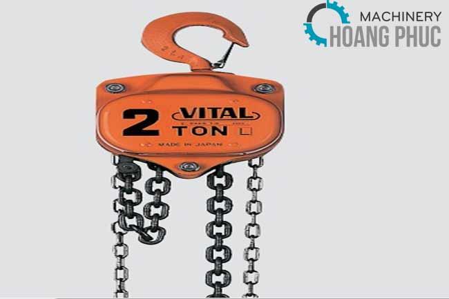 Palang xích kéo tay Vital 2 tấn 5m VL5 - 20 chính hãng